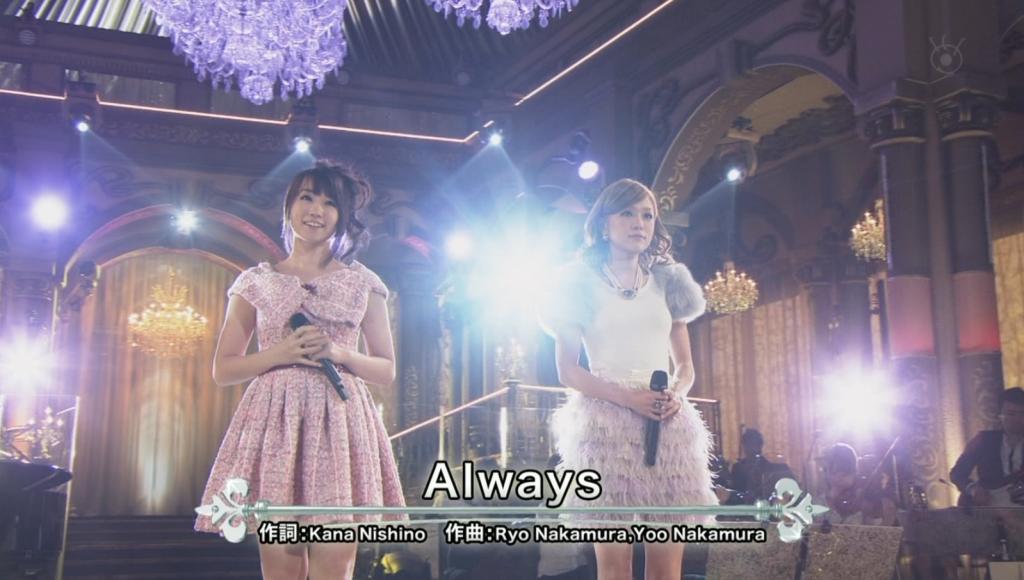 Nishino Kana Mizuki Nana - always - FNS 2013.12.4